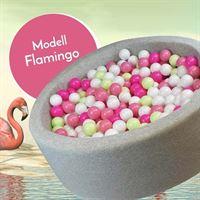 Bällebad Flamingo Grau