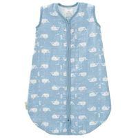 Fresk Musselin Babyschlafsack Wal Blauweiß