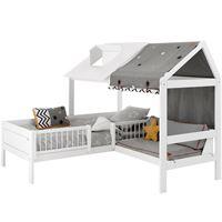 Kinderbett haus  Lifetime Beachhouse Betten individuell gestalten