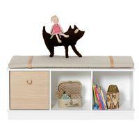 Oliver Furniture Standregal Wood niedrig schmal