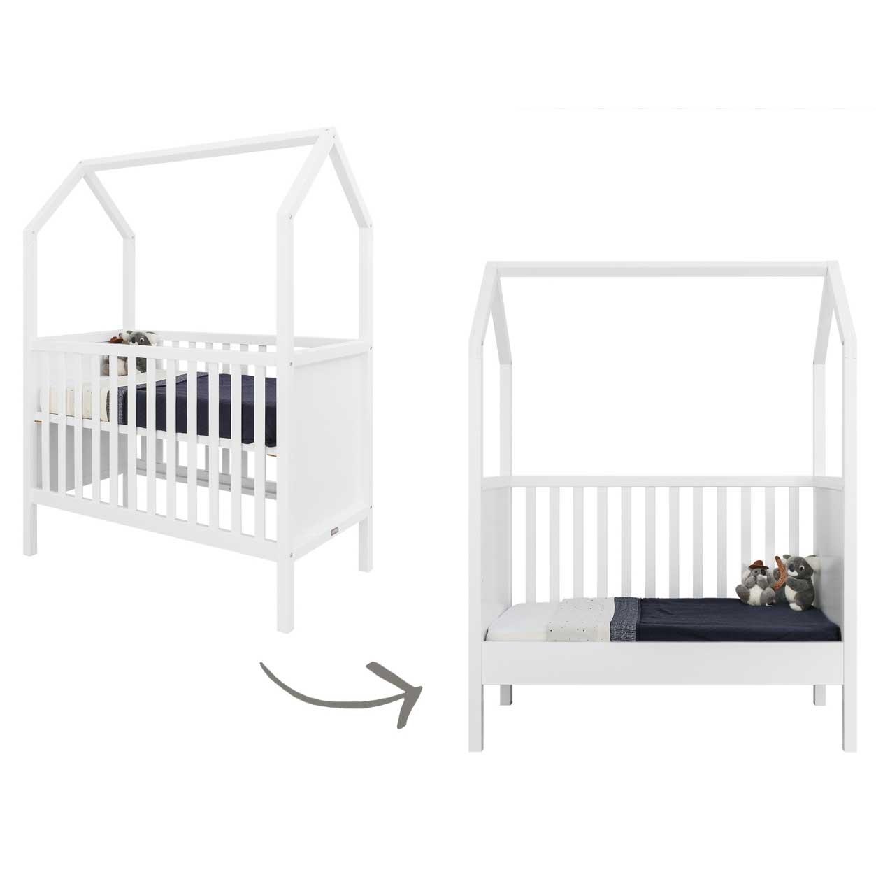 bopita babybett my first house wei online kaufen kinderzimmerhaus. Black Bedroom Furniture Sets. Home Design Ideas