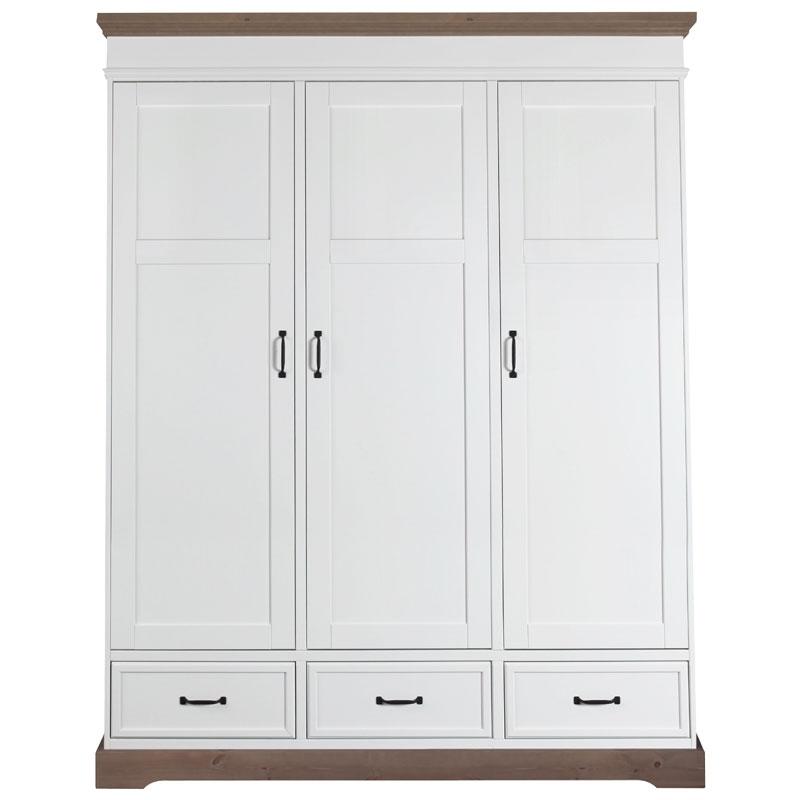 Kidsmill Schrank Savona weiß/ grau - 3 Türen