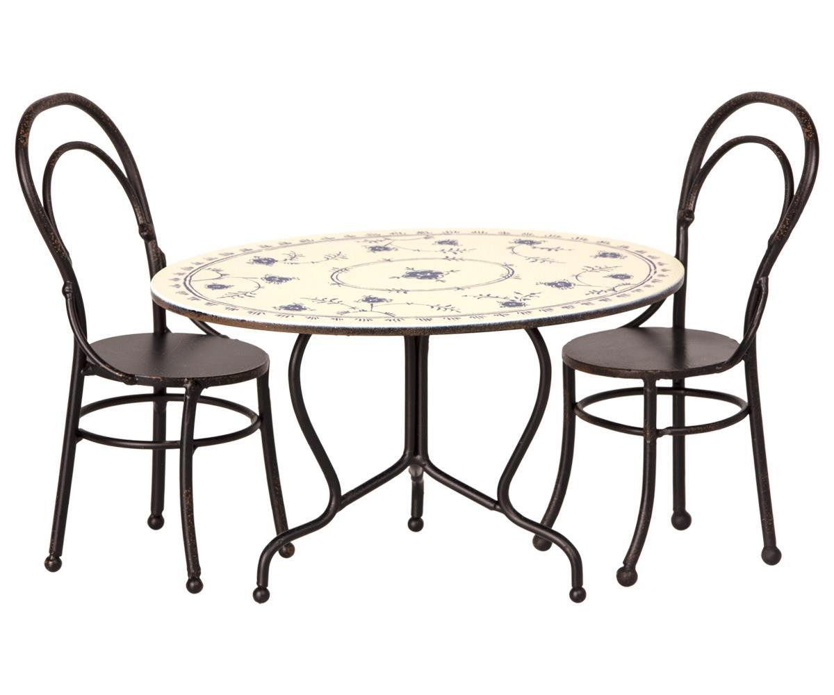 Maileg Mäuse Tisch Mit Zwei Stühlen