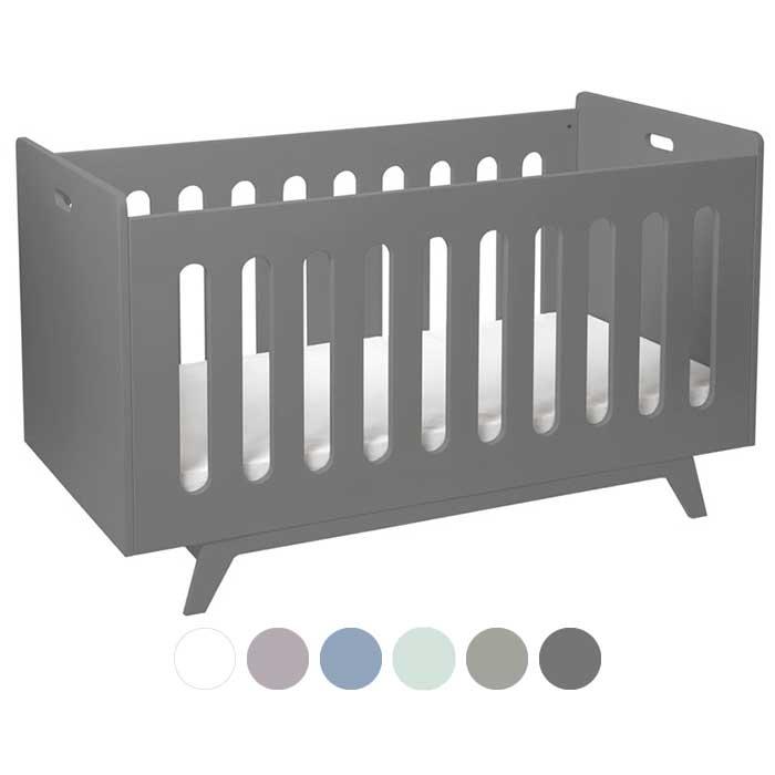 mimm kinderbett 70 x 140 cm dunkelgrau kinderzimmerhaus. Black Bedroom Furniture Sets. Home Design Ideas