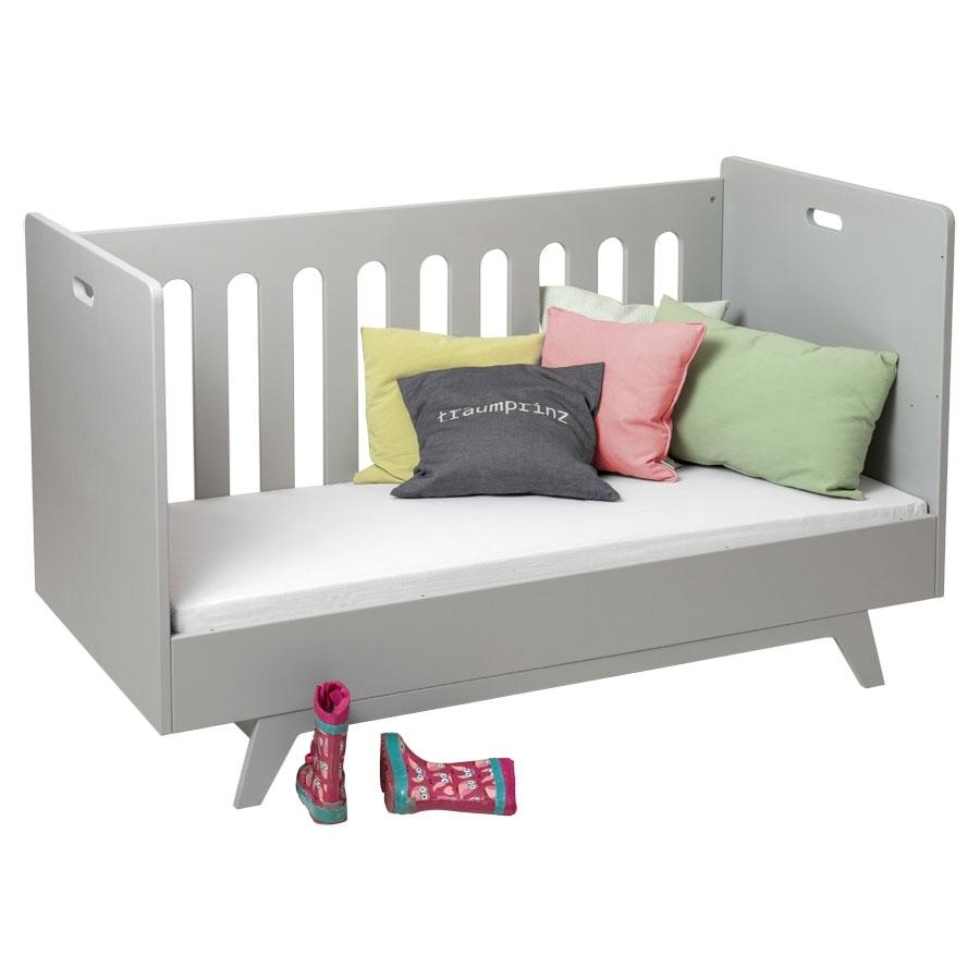 mimm kinderbett 70 x 140 cm hellgrau kinderzimmerhaus. Black Bedroom Furniture Sets. Home Design Ideas