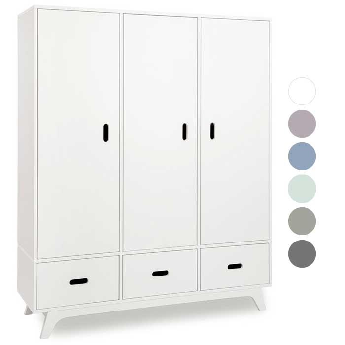 mimm kleiderschrank 3 t rig wei kinderzimmerhaus. Black Bedroom Furniture Sets. Home Design Ideas