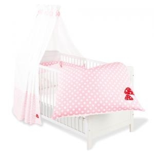 babybettset gl ckspilz rosa im kinder online shop gutesbuybonn kaufen. Black Bedroom Furniture Sets. Home Design Ideas