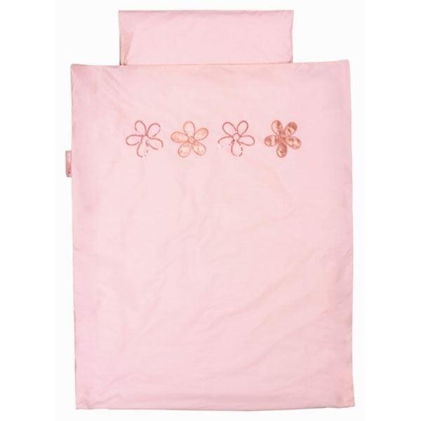 rosa blumen bettw sche rosa f r m dchen von taftan. Black Bedroom Furniture Sets. Home Design Ideas