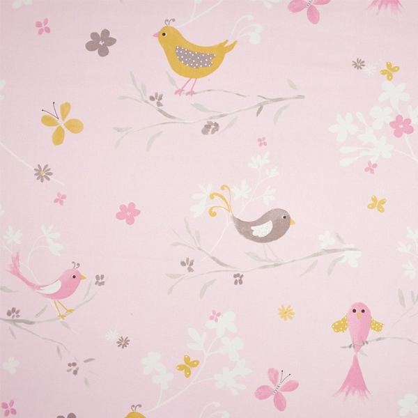 Stoff douce nuit v gel rosa dekostoff for Raumgestaltung vogel