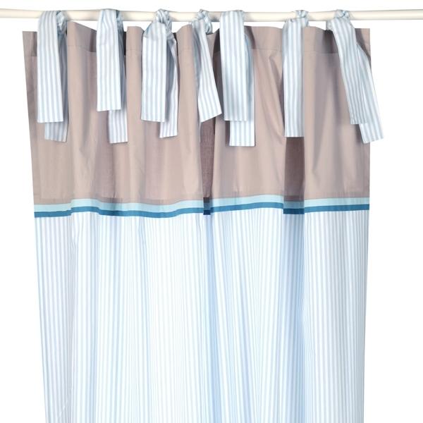 Vorhangschal streifen lagune blau vonannette frank gardine kinderzimmerhaus for Vorhangschal kinderzimmer