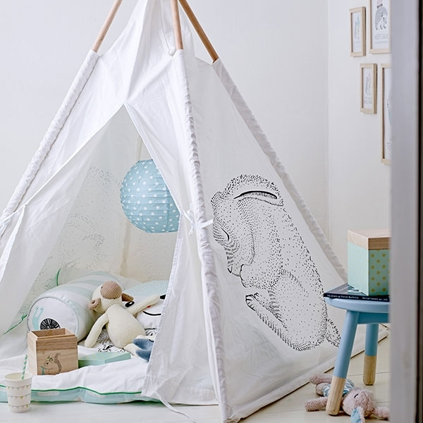 Bloomingville tipi beige gestreift kinder tipi - Bloomingville kinder ...