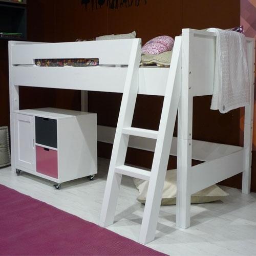 halbhochbett combiflex mit schr ger leiter kinderzimmerhaus. Black Bedroom Furniture Sets. Home Design Ideas