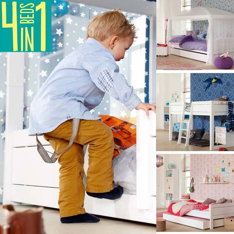 kinderbett f r zweij hrige sicher umbaubar mitwachsend. Black Bedroom Furniture Sets. Home Design Ideas
