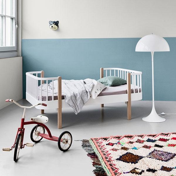 oliver furniture kinderbett 90 x160 cm wood eiche. Black Bedroom Furniture Sets. Home Design Ideas