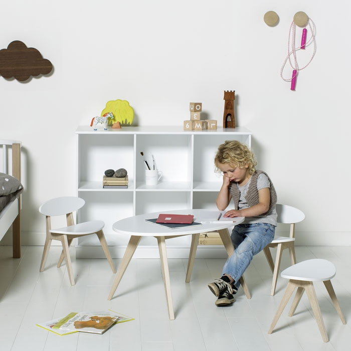 oliver furniture kindertisch ping pong eiche und wei. Black Bedroom Furniture Sets. Home Design Ideas