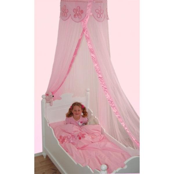 Mädchenbetten rosa bett himmel mit blumen traumhaft schön mädchenbetten dekorieren