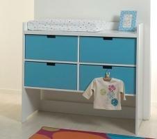 kommode mix and match in weiss mit farbigen schubk sten. Black Bedroom Furniture Sets. Home Design Ideas