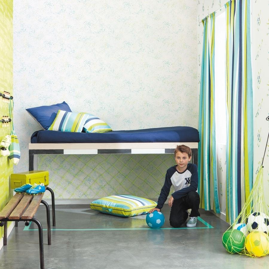 caselio only boys - fußballtapete in gelb und blau
