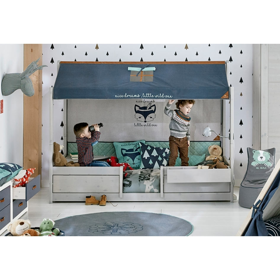 lifetime 4 kinderbetten in 1 grau hausbett kinderzimmerhaus. Black Bedroom Furniture Sets. Home Design Ideas