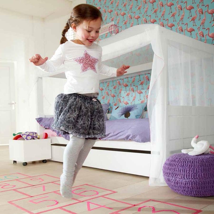 Mädchen Betthimmel In Weiß Und Pink Für Das 4 In 1 Bett Von LifeTime