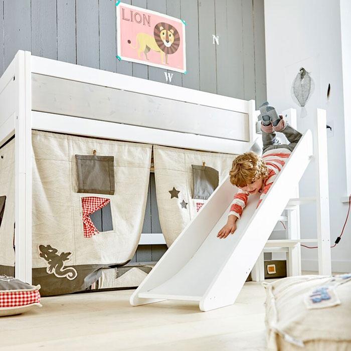 Kinderhochbett mit rutsche  Lifetime Rutsche für Kinder Hochbett - Spielbett Rutsche
