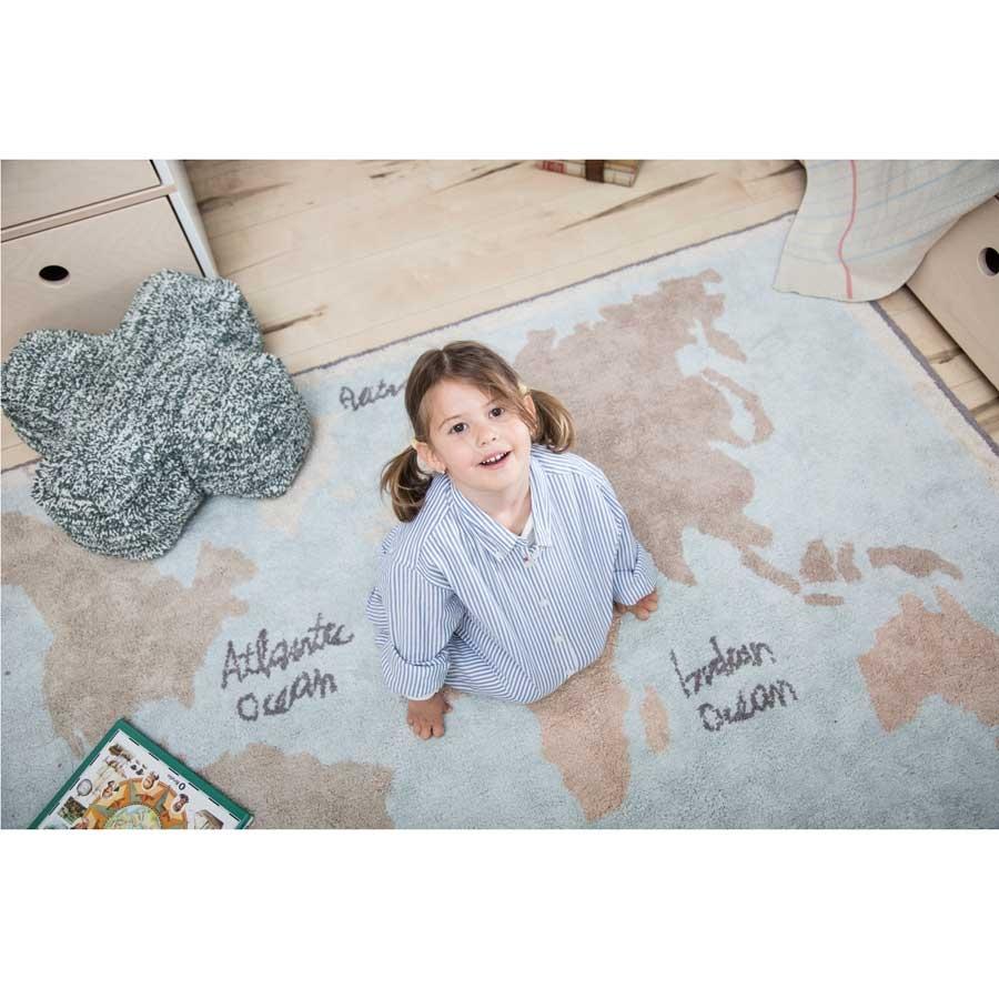 Lorena Canals Teppich Weltkarte Kinderzimmerhaus