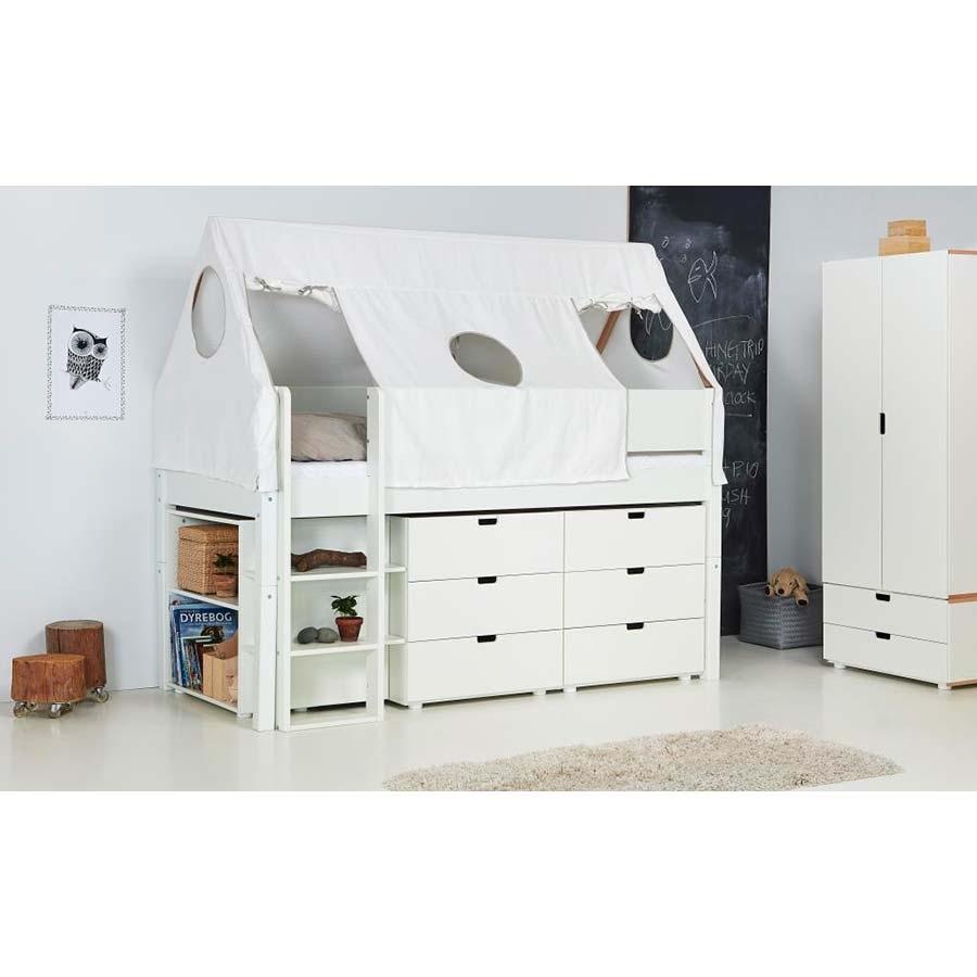 manis h kinderhochbett arn wei 90 x 200 cm. Black Bedroom Furniture Sets. Home Design Ideas