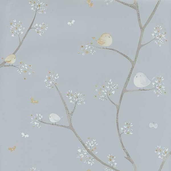 Abwaschbare Tapete F?r Kinderzimmer : Casadeco My little World Tapete V?gelchen Online kaufen
