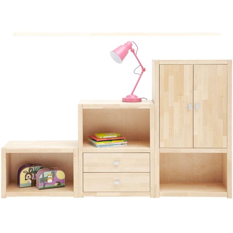 lifetime regal 82 cm hoch wei birke. Black Bedroom Furniture Sets. Home Design Ideas