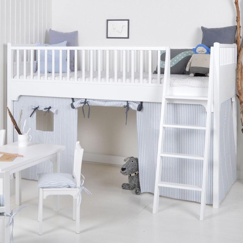 oliver furniture bettvorhang f r das halbhohe hochbett. Black Bedroom Furniture Sets. Home Design Ideas