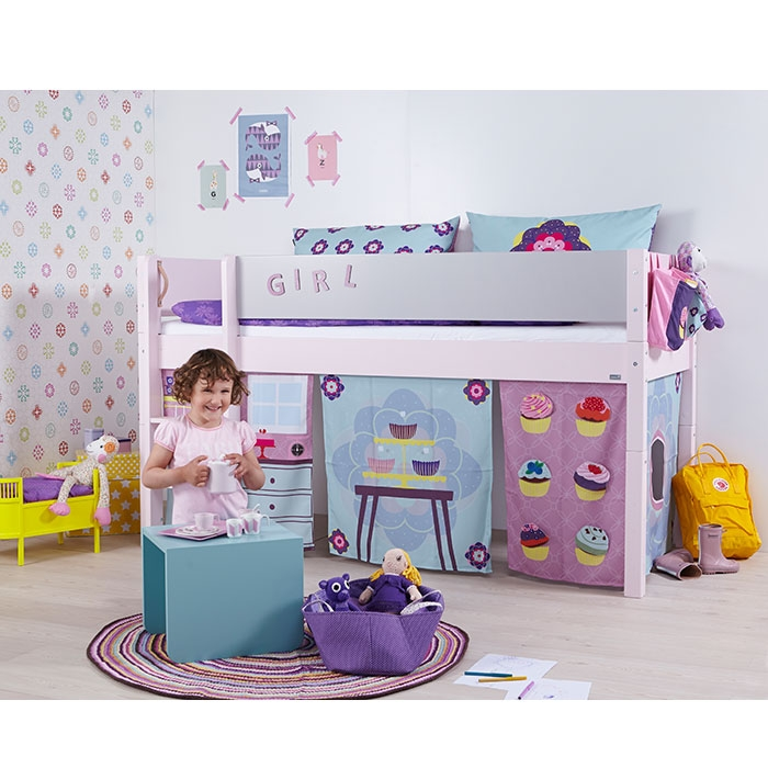 manis h minihochbett wei motiv cup cake girl. Black Bedroom Furniture Sets. Home Design Ideas